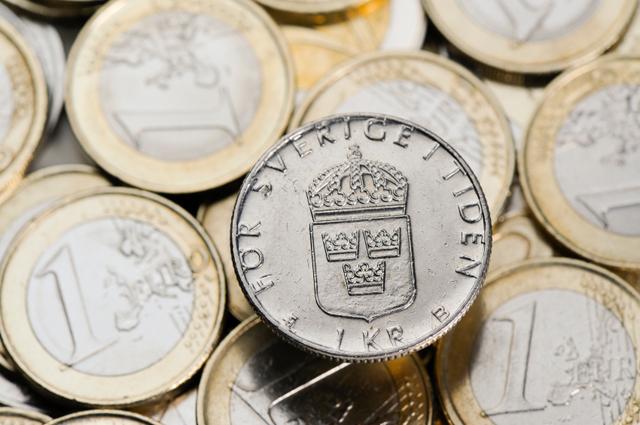 Euro och kronor